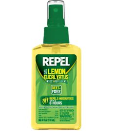 A study by the US Department of Agriculture compared four synthetic mosquito repellents and eight natural mosquito repellents and found that Repel Lemon Eucalyptus was the most effective repellent, more so than a 7% DEET repellent. - gonna try it