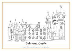 Balmoral Castle Colouring Page