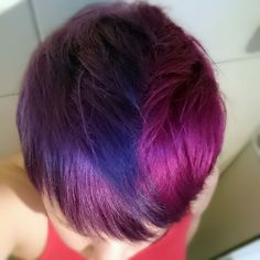 My hair right now. Half'n half with purple and a pink-ish purple!