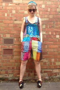 Nutshell Vintage: Loads more #fairtrade #gringo patchwork dungarees in stock! In store for £20 #festival
