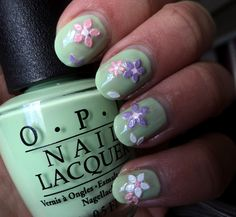 flower sticker nails.