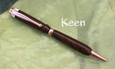 dp - Keen Handcrafted Handmade Ironwood/Acrylic Copper Slimline Pen