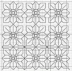 blackwork embroidery free patterns | blackwork flower 1 fill pattern blackwork flower 2 fill pattern