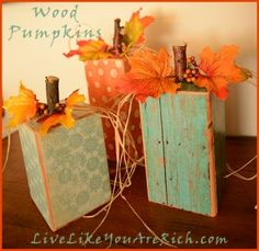 pretty wood pumpkins