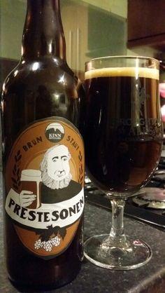 Kinn Bryggeri Prestesonen Brun Staut #craftbeer #realale #ale #beer #beerporn… Different Types Of Beer, Malt Beer, I Like Beer, Beers Of The World, Beer Brands, Brew Pub, Brewery, Beer Bottle, Alcoholic Drinks