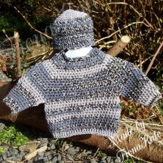 Crochet baby Jumper & hat set  Newborn by madebyFionaKate on Etsy