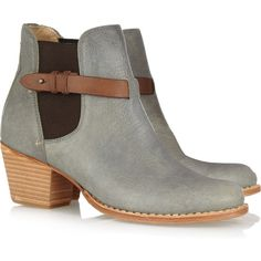 Rag & bone Durham leather ankle boots ($525) ❤ liked on Polyvore