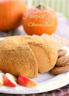 """Pumpkin Pie """"Cheese"""" Ball #pumpkin_recipes #snacks #appetizer"""