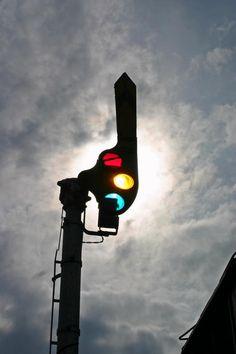 Awesome photo of Railroad Semaphore Signal Light!  Choo Choo... :-) Railroad, Train, Locomotive!