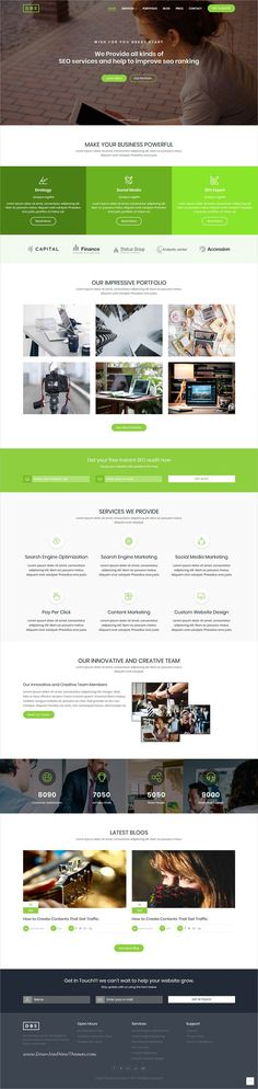 DBS is clean and modern design 4in1 responsive #HTML template for online #marketing and digital #agency website to live preview & download click on Visit