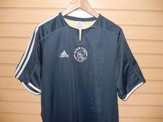 Men's Adidas AJAX Amsterdam Soccer Futbol Jersey ABN AMRO 2003 Large Rugby Shirt #adidas #ShirtsTops