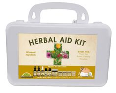Deluxe Herb Aid Kit ~ Herbal Essentials for Active Family in Durable Hardcover Case