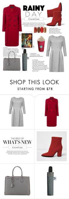 """""""rainy day #3"""" by sybel-cade ❤ liked on Polyvore featuring GALA, Great Plains, Dsquared2, River Island, Prada and Minimal"""