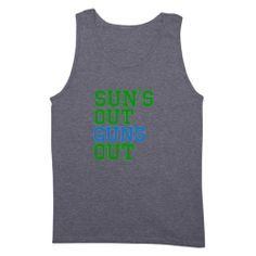 CafePress Suns Out Guns Out Funny Mens Dark Tank Top - L Sport Grey ...