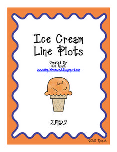 ice cream themed printable to practice creating a line plot based off of given data. 2nd Grade Activities, 2nd Grade Math, Grade 2, Second Grade, Teaching Schools, Teaching Math, Math Teacher, Maths, Math Classroom