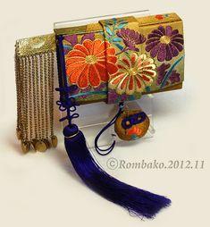 日本刺繍の筥迫   筥迫は続くよどこまでも!