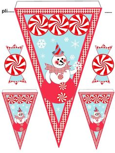 banniere Christmas Lights Garland, Christmas Banners, Christmas Ornaments To Make, Miniature Christmas, Christmas Clipart, Christmas Printables, Party Printables, Christmas Holidays, Christmas Crafts