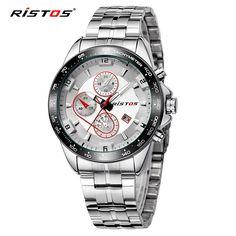 RISTOS relogio masculinos 2017 Luxury Brand Watch Strap Men Stainless Steel Quartz Business Casual Military Wristwatch Men Watch