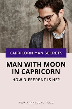 What happens when a man has a Capricorn Moon? There are some things you should know as this could alter his otherwise, stereotypical behavior. It could cause him to go from being fantasy oriented to being very focused and serious. It can also cause other things to change. Keep reading for understanding your Moon in Capricorn man. #horoscope #zodiac #sign #sun #moon #capricorn #man #type #guy #woman #dating #relationship #love Love Astrology, Capricorn Moon, Dating Relationship, Your Man, Sun Moon, Understanding Yourself, Horoscope, The Secret, Zodiac Signs