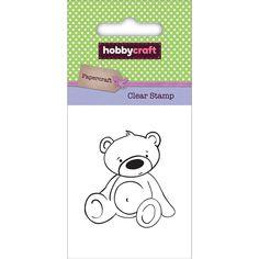 Hobbycraft Mini Clear Stamp Bear   Hobbycraft