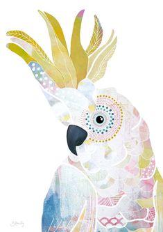 - - SIZES AVAILABLE - - - x printed onto matte paper x printed onto matte paper x printed onto matte paper x printed onto matte paper Printed professionally in high definition to ensure colour Australian Animals, Indigenous Australian Art, Bird Artwork, Bird Illustration, Illustrations, Mundo Animal, Cockatoo, Aboriginal Art, Bird Prints