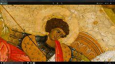 St George, Russian, Novgorod School. c.1500 (detail) Russian Icons, Saints, Detail, School, Painting, Art, Art Background, Painting Art, Kunst
