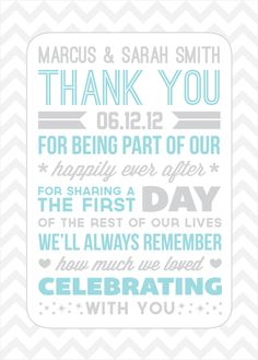 Whimsical Menu and Thank You Card for Wedding Dinner | wedding ...