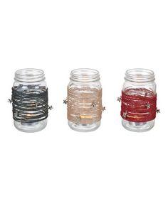 Glass Star Dangle Jar - Set of Three