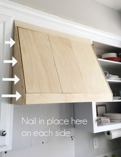 diy kitchen DIY Range hood cover from confessionso - Diy Kitchen Remodel, Kitchen Redo, New Kitchen, Kitchen Ideas, Kitchen Layout, Home Remodeling Diy, Home Renovation, Kitchen Remodeling, Range Hood Cover