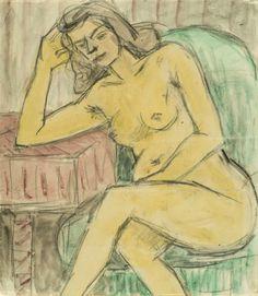 Theodor Pallady - Nud în fotoliu verde