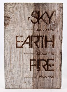 Our one of a kind signs are laser etched into the wood. It measures…