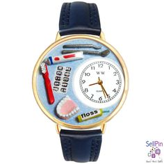 SellPin.com: Pins for Sale by Owner: Dentist watch by Whimsical Watches. Hand-crafted, unique, novelty watch makes a perfect gift for any Dentist or Dental Assistant. $49.95