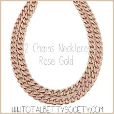 2 Chains Necklace - Rose Gold  #rosegold #necklace #jewelry #shopping #gift #giftidea #womangiftidea #girlfriendgift #holidaygift #holiday #christmaspresent #present