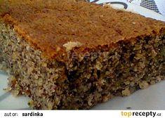 Cuketový makovec recept - TopRecepty.cz Sweet Recipes, Banana Bread, Food And Drink, Pizza, Sweets, Baking, Vegetables, Fitness, Gummi Candy