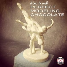 A modeling chocolate recipe that that has no lumps, is smooth and easy to work with. Can be made from candy melts (melties) or real chocolate. Used by the pros.