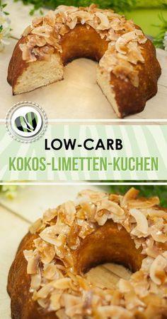 Der Kokos-Limetten-Kuchen ist low-carb, glutenfrei und auch noch zuckerfrei.