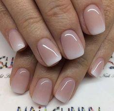 Nageldesign - Nail Art - Nagellack - Nail Polish - Nailart - Nails Nagelkunst Nageldesign How To Sav Cute Nails, My Nails, Soft Nails, S And S Nails, Faded Nails, Blush Nails, Pink Powder Nails, Nails Today, Nagel Blog
