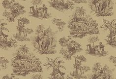 Kenneth James Wallpaper – Safari Toile, Light Brown on OneKingsLane.com