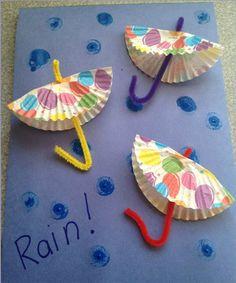 Kids crafts Frugal April Fun Craft for Kids: DIY Rainy Day Paper Umbrellas Soapstone Countertops – D Daycare Crafts, Classroom Crafts, Fun Crafts For Kids, Toddler Crafts, Projects For Kids, Diy For Kids, Craft Projects, Arts And Crafts, Simple Crafts
