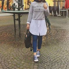 Girly chic hijab collection - PINNED BY - Girly chic hijab collection – Just Trendy Girls Modern Hijab Fashion, Street Hijab Fashion, Islamic Fashion, Muslim Fashion, Fashion Outfits, Hijab Casual, Hijab Chic, Hijab Mode Inspiration, Hijab Stile