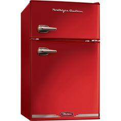 Nostalgia Electrics Retro Series 3.1 Cu Ft Compact Refrigerator Freezer - Red
