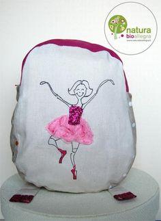 Zainetto bimbo ballerina rosa