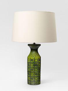 Pol Chambost; Glazed Ceramic Lamp, 1956.