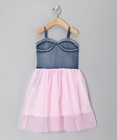 This sweet frock is part casual, part trendy and all awesome. The fluttery skirt, denim bodice and comfy elastic construction make this piece a darling delight.Denim / tulleMachine wash; hang dryImported
