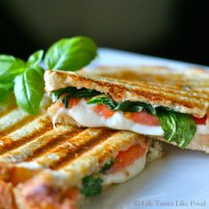 Caprese Panini -- made these today for lunch!  So delish.  Great sandwich to enjoy this time of year with all the fresh tomatoes and basil coming in.