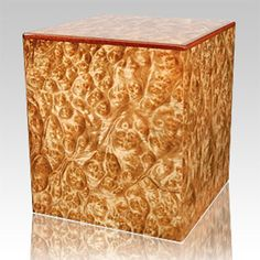 100 of the World's Most Beautiful Wood Cremation Urns: Burl Elm Wood Cremation Urn Cremation Boxes, Cremation Urns, Small Wood Box, Small Boxes, Tree Burl, Amboyna Burl, Funeral Urns, Wood Creations, Wooden Jewelry Boxes