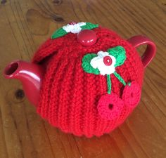 Cherry tea pot cosy
