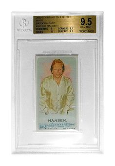 This is a 2010 Topps Allen & Ginter, Sig Hansen, #203 Bazooka Back 22/25 Mini. Beckett Graded 9.5. I could let it go for $60.00 via PayPal if anyone is interested.