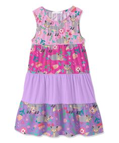 Take a look at this Pink & Purple Fox Color Block A-Line Dress - Toddler & Girls today!