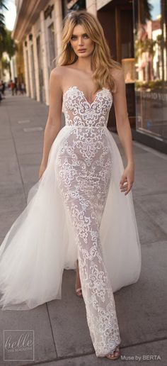 MUSE by BERTA Spring 2019 Wedding Dresses - City of Angels Bridal Collection Wedding Gowns unique, wedding dress unique Dresses Elegant, Sexy Wedding Dresses, Elegant Wedding Dress, Perfect Wedding Dress, Bridal Dresses, Wedding Gowns, Sophisticated Wedding, Affordable Dresses, Amazing Dresses